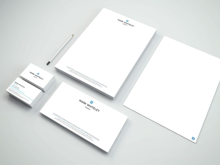 Mark Whiteley Design Business Stationery